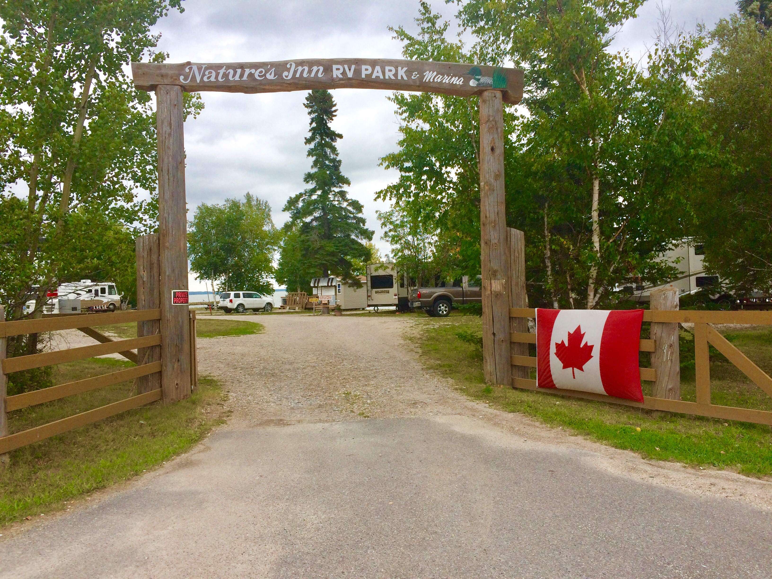 rv park dryden natures inn entrance