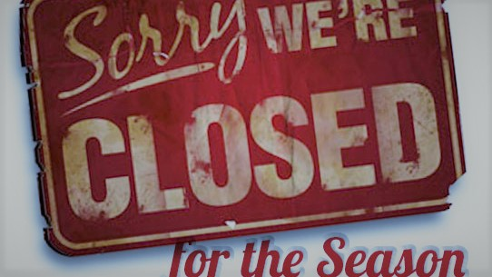 rv park dryden natures inn sign season closed